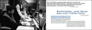 Imagebroschüre Doppelseite Deutschlandradio