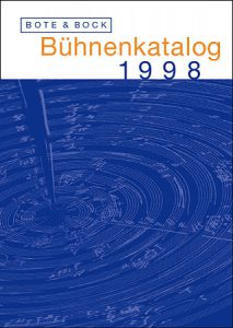 Katalogcover 170 x 240 mm Bote & Bock