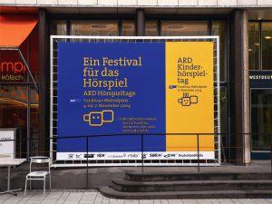 Logo und Veranstaltungsdesign ARD Hörspieltage Westdeutscher Rundfunk