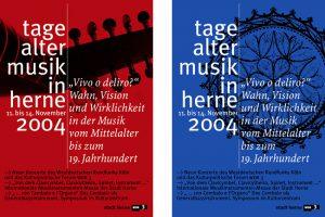 Plakate (Entwurf) Westdeutscher Rundfunk und Stadt Herne