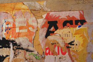 Schrift Zeichen Spuren 17 Cinque Terre 1999